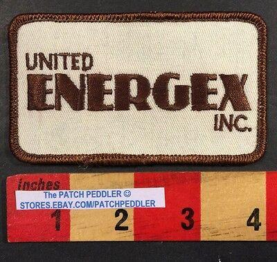 Vtg. United Energex Inc. Oil & Gas Advertising Logo Patch. Spur Cisco Texas 57MM