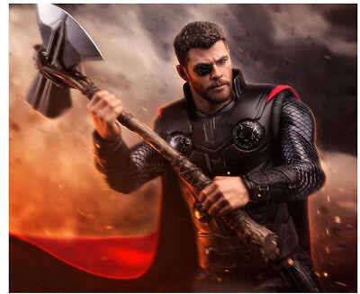 Avengers: Infinity War Thor Cosplay Metal  AxeStormbreaker Hatchet Cos Prop New