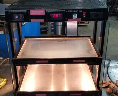 Hatco Hot Food Display Sandwich Merchandiser Grhw-1sgd Glass Shelf Warmer
