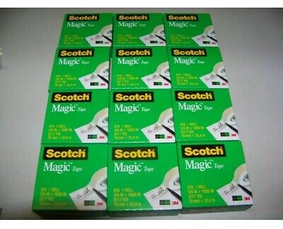 Scotch Magic Tape 810 34 X 1296 Inches 12 Clear Rolls Free Priority Shipping 3m