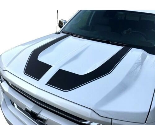 2016 - 2018 Rally Edition Style Z71 Chevrolet Silverado HOOD GRAPHIC-MATTE BLACK