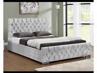 Brand new full crushed velvet including memory mattress