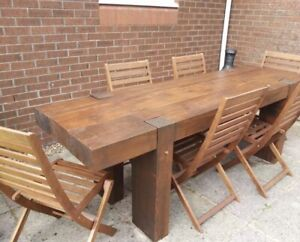 Railway Sleeper Dining Table - Hand Crafted in Adelaide