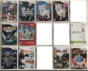 Wii Games : Paper Mario, New Super Mario, Mario AllStar, Kirby