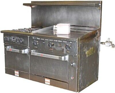 Wolf C60ss-4b36gn 4 Burner 2 Oven 36 Manual Griddle Natrl Gas Restaurant Range