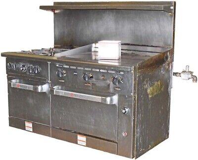 Wolf C60ss-4b36gn 4 Burner 2 Oven 36 Manual Griddle Natrl Gas Restaurant Range