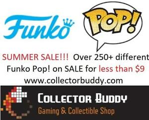 Summer SALE! Funko Pop! Vinly Figure & Bobble Heads Pop NHL Movies Animation Games Television Star Wars Marvel Pop Chase