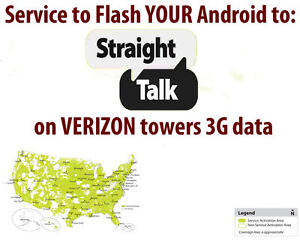 Flash Service - Sprint HTC M8 or M9 to Straight Talk or Page Plus Verizon Towers
