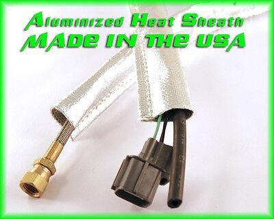Metallic Heat Shield Sleeve Insulated Wire Hose Cover Wrap Loom Tube 3/4