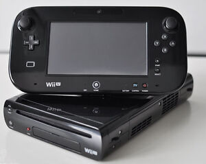Wii U Deluxe Black 32GB Console + Gamepad (Tablet)