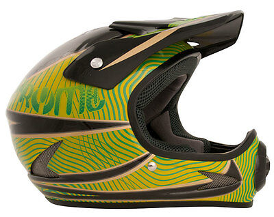 Pryme Evil Full Face BMX / DH Helmet sz Adult M Black/Green