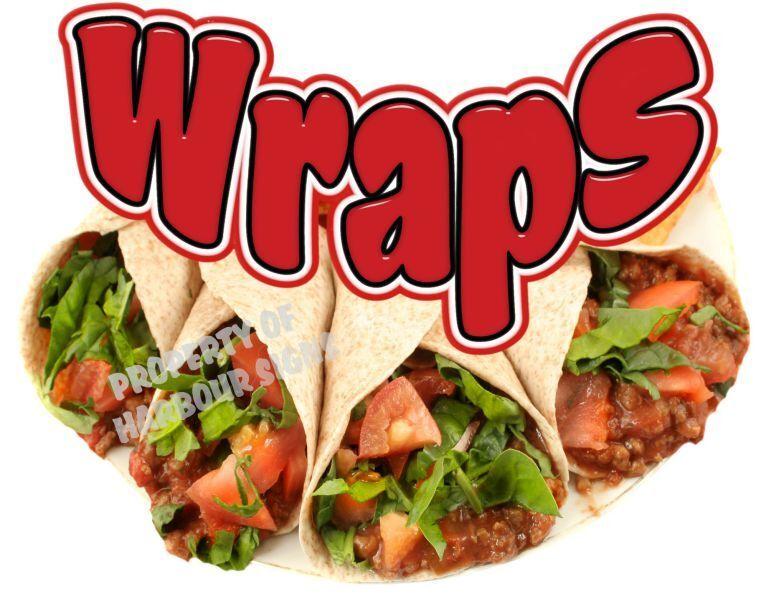 "Wraps Decal 14"" Concession Restaurant Food Truck Vinyl Menu Sign Sticker"