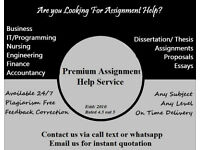 Help with Assignment, Essay, Proposal, Dissertation, Coursework, Proofreading, Nursing, HND, Law, IT