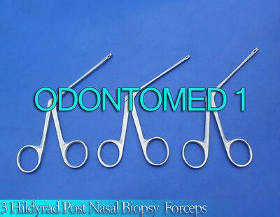 3 Hildyard Post-nasal Biopsy Forceps Ent Surgical Instruments