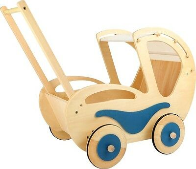 Puppenwagen Dolly Old-Fashion-Style Holz Faltdach ab 3 Jahre ca. 60 x 38 x 50 cm