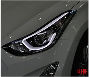 Projection Led Headlamp Lights For Hyundai 2011 2015 Elantra Avante Md Parts Ebay