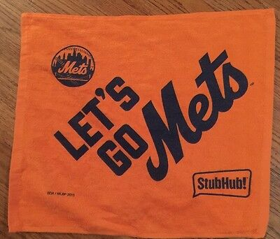 2015 Ny Mets Nlcs Stub Hub Rally Towel Vs Cubs Playoff Gm 1 10 17 Mets Win 4 2