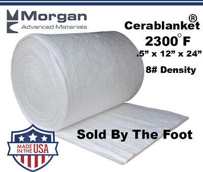 Ceramic Fiber Insulation Blanket Wool High 2400f 12x12x24 8