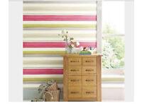 Next Watercolour Stripe Pink Wallpaper