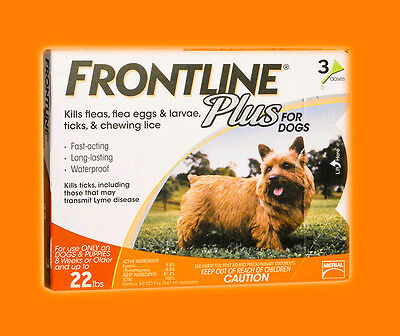 Frontline Plus  for Dogs 0-22lbs (3-Pack) ORANGE