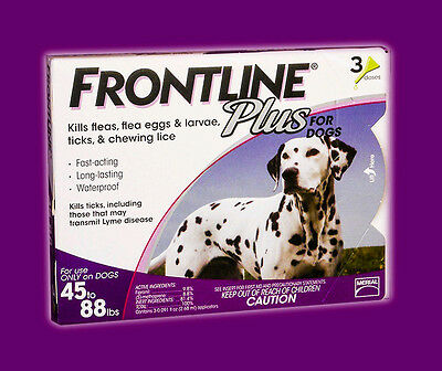 Frontline Plus for Dogs 45-88 lbs (3-Pack) PURPLE