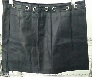 BCBG Leather Mini Skirt Size 6