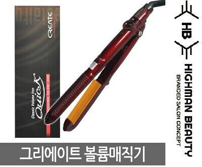Create Cera Magic CR2005-9QVS Hair Iron Ceramic Round Heater Straightener KOREA