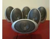 Kef egg htc1001 x5 and hts1001 x 1 audio speakers