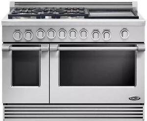 Cuisinière encastrée au gaz 48'', 2 fours à convection, acier inoxydable, DCS