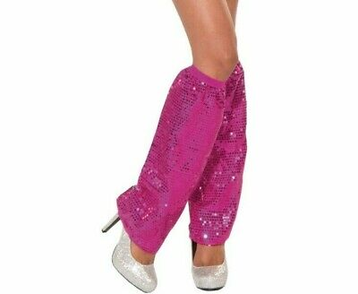 Sequin Leg Warmers Club Dazzle Magenta New by Forum 70494