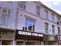 A Modern 1 Bedroom Studio Apartment located on High Street Street, Dudley, DY1 1PY