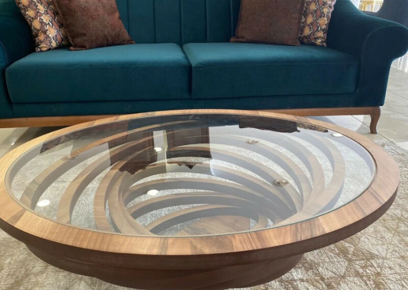 Oval coffee table for living room decor