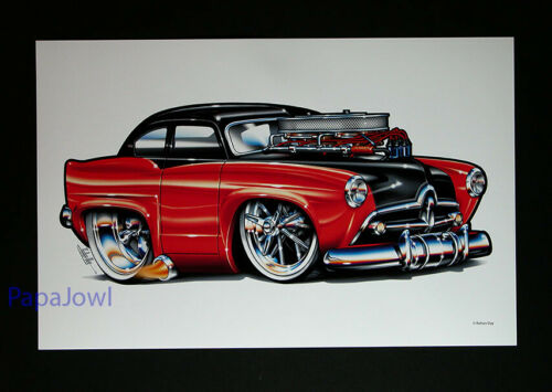"""Muscle Machines Print Art Poster 1952 Henry J Show Car Rohan Day 11"""" by 17"""""""
