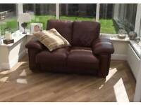 2 seater leather sofa and matching chair