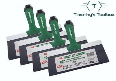 Usg Sheetrock 10 Blue Steel Pro-series Drywall Taping Knife Pack Of 4