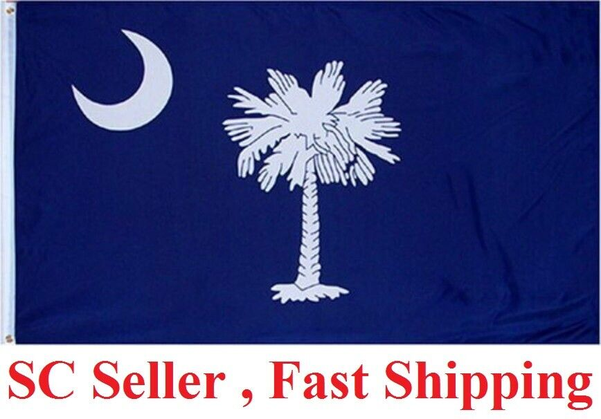 3X5 South Carolina Flag 3'x5′ State of SC Banner Flag FAST SHIP by SC Seller Décor
