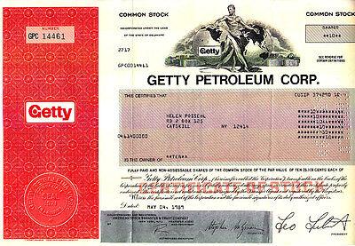 Getty Petroleum Corp 1989 Stock Certificate