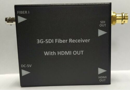 1CH 3G/HD/SD/DVB-ASI SDI Fiber Receiver With HDMI OUT 20KM , ST Fiber
