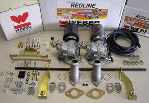 VW Weber Carb kit - Beetle, Bug,Type1, Bus, Type II Single port Dual 34ICT Weber