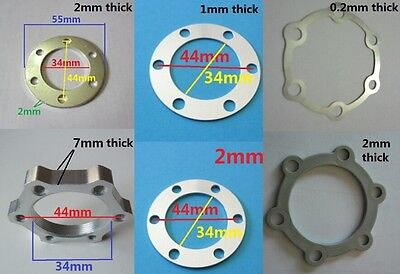 Brake Rotor Spacer (Bike 6 Bolt disc brake rotor spacer / lock shim 1mm/2mm thick Φ44mm standard nut )