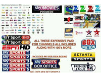 Openbox/Zgemma/Amiko V8S V5S V3 etc with 12 Month Gift/Subscription