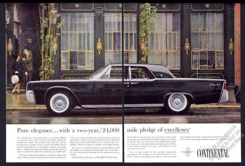 1961 Lincoln Continental black car color photo vintage print ad
