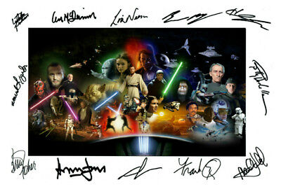 Star Wars Cast Multi Signed Autograph PRINT 6x4' Gift Present!!!