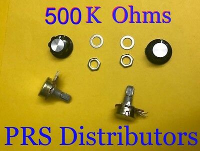 500k Ohm Linear Panel Mount Volume Control Potentiometer With Knob B500k 2 Sets