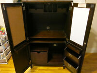 TV Cabinet with Double Wooden Swing Doors