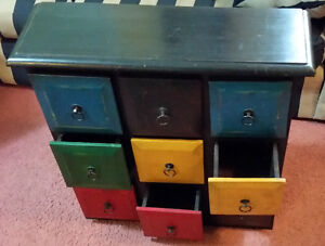 Decorative drawer cabinet - colourful