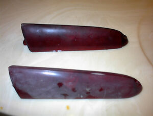 USED PR OF RED 1958 OLDS LOWER REAR TAIL LITE LENSES $15PR