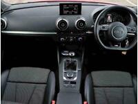2016 Audi A3 1.4 TFSI 150 S Line 5dr [Nav] Hatchback Petrol Manual