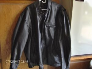 5XL  leather bike jacket, vest and chaps