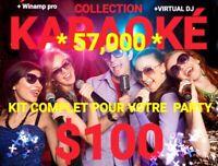 SUPER COLLECTION DE KARAOKÉ 57,000 + UPDATE NOVEMBRE 2019- $100